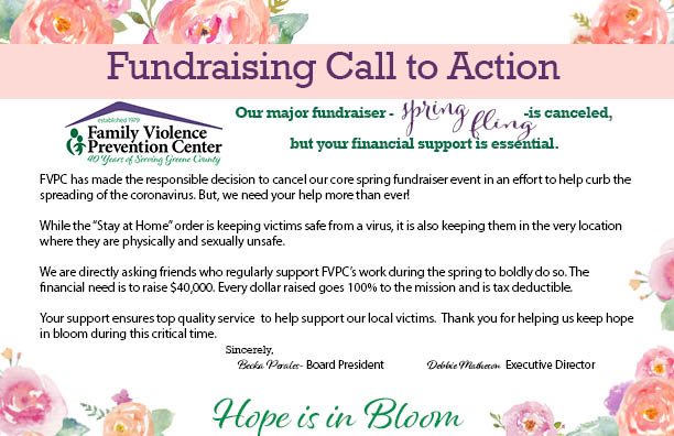 """Spring Fling is Cancelled as Planned, but We """"Hope"""" You Help Us!"""